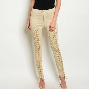 LACE UP PANTS